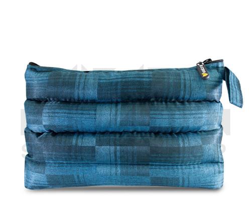 """11"""" x 6.5"""" Zip Pipe Bubbler Bag by Vatra - Blue Plaid"""