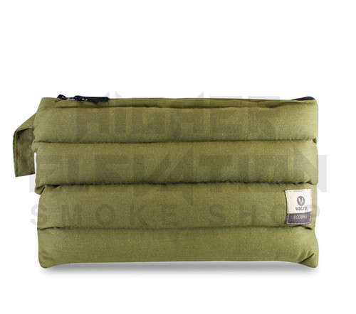 "11"" x 6.5"" Zip Pipe Bubbler Bag by Vatra - Green Hemp"
