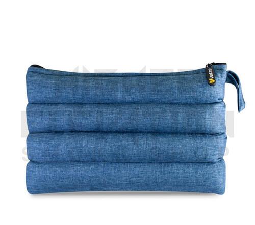 "11"" x 6.5"" Zip Pipe Bubbler Bag by Vatra - Blue Woven"