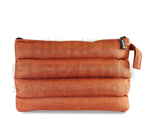 "11"" x 6.5"" Zip Pipe Bubbler Bag by Vatra - Orange Woven"