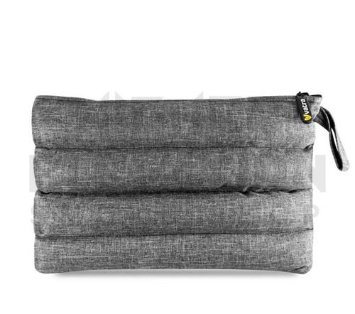 "11"" x 6.5"" Zip Pipe Bubbler Bag by Vatra - Gray Woven"