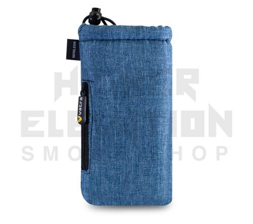 "7.5"" Drawstring  Pipe Bag w/ Zipper Pocket by Vatra - Blue Woven"