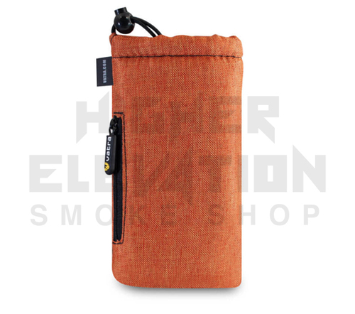 "7.5"" Drawstring  Pipe Bag w/ Zipper Pocket by Vatra - Orange Woven"