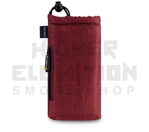 "7.5"" Drawstring  Pipe Bag w/ Zipper Pocket by Vatra - Burgundy Woven"