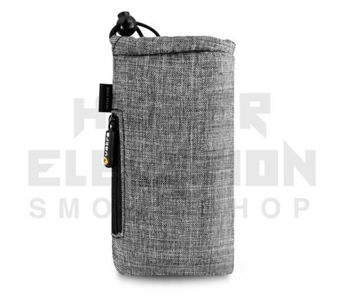"7.5"" Drawstring  Pipe Bag w/ Zipper Pocket by Vatra - Gray Woven"