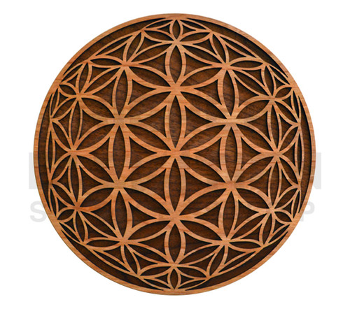 Flower of Life Orb Wall Art  (Cherry & Walnut) - 4 Sizes available