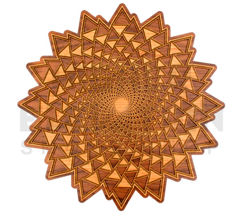Organic Spiral Vortex Wall Art (Cherry & Walnut) - 3 Sizes available