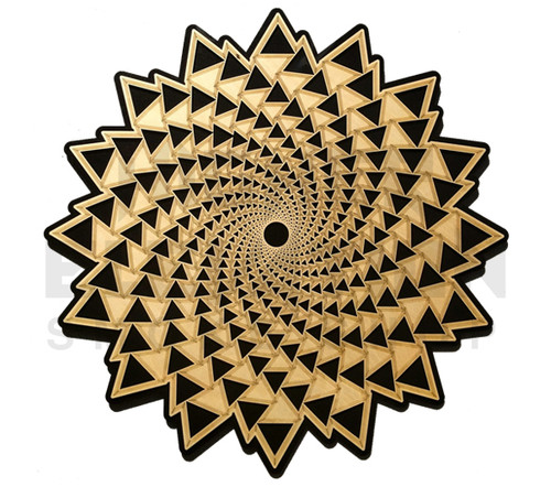 Organic Spiral Vortex Wall Art (Finished Birch on Black) - 3 Sizes available