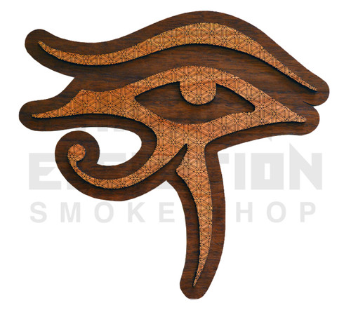 Eye of Horus Flower of Life Wall Art  (Cherry & Walnut) - 4 Sizes available