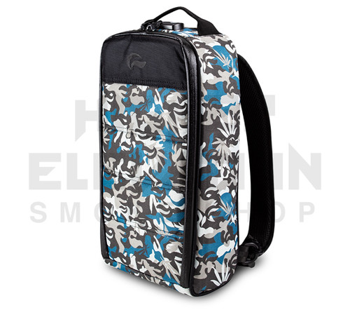 """15"""" Skunk Rig Backpack - Smell Proof - Water Proof - Lockable - Blue Camo"""