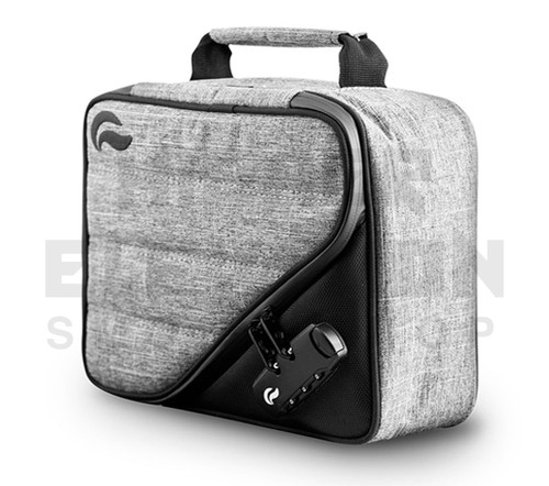 10″ x 7.5 x 3″ Pilot Lockable Odor Protection Pipe Case by Skunk - Gray