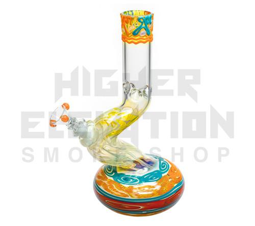 "HVY 11"" 38Mil Color Cane & Fumed Mid Bend Single Bubble (assorted colors)"