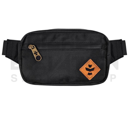 """8.5"""" x 5"""" x 2.5"""" Companion Odor Protection Fanny Pack by Revelry - Black"""