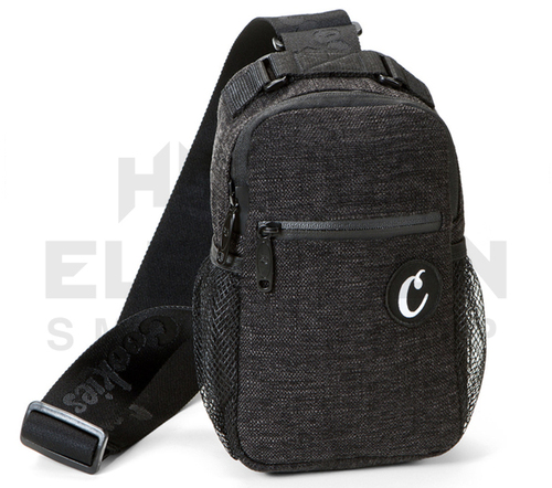 """10"""" Cookies Over the Shoulder Sling Bag - Smell Proof  - Black Hemp (Out of Stock)"""