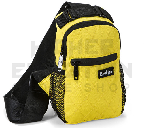 """10"""" Cookies Over the Shoulder Sling Bag - Smell Proof  - Quilted Yellow (Out of Stock)"""