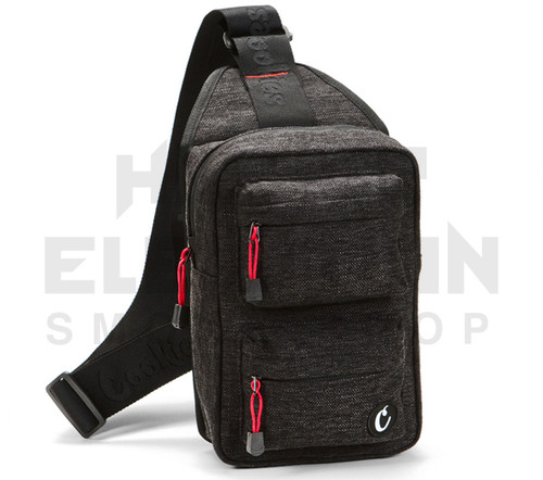 """10"""" Cookies Over the Shoulder Rack Pack - Smell Proof  - Black Hemp (Out of Stock)"""