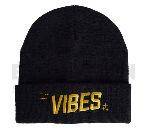 VIBES Beanie by Cookies - Black/Gold (Out of Stock)