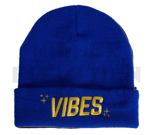 VIBES Beanie by Cookies - Blue/Gold (Out of Stock)