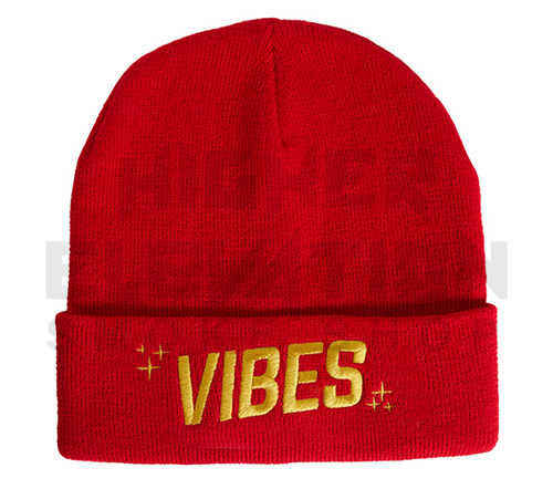 VIBES Beanie by Cookies - Red/Gold