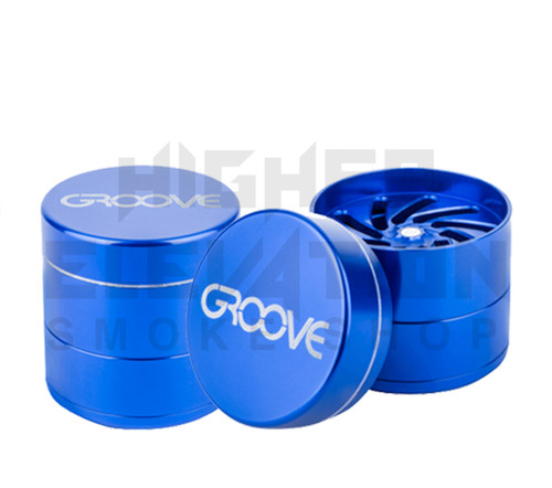 """2.5"""" Groove 4-Piece Grinder by Aerospaced - Blue"""