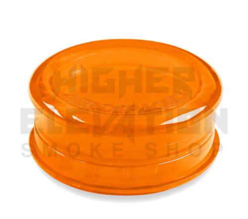 "2.5"" Aerospaced 3-Piece Acrylic Grinder - Transparent Orange"