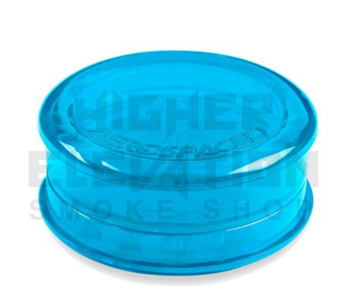 "2.5"" Aerospaced 3-Piece Acrylic Grinder - Transparent Blue"