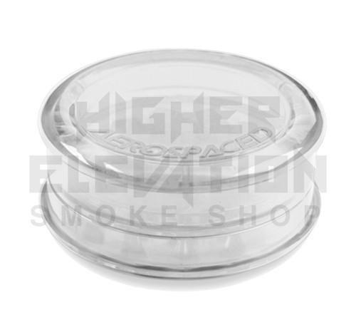 "2.5"" Aerospaced 3-Piece Acrylic Grinder - Clear"