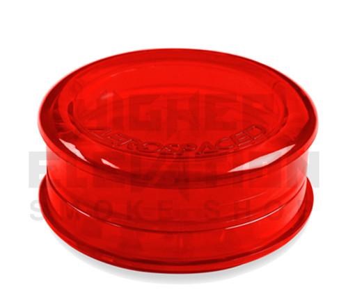 "2.5"" Aerospaced 3-Piece Acrylic Grinder - Transparent Red"
