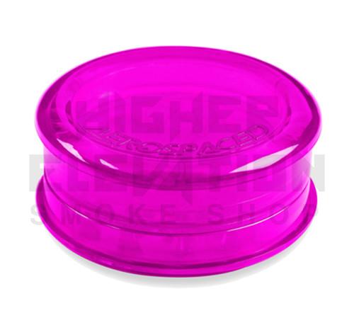 "2.5"" Aerospaced 3-Piece Acrylic Grinder - Transparent Fuchsia"