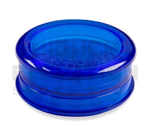 "2.5"" Aerospaced 3-Piece Acrylic Grinder - Transparent Dark Blue"