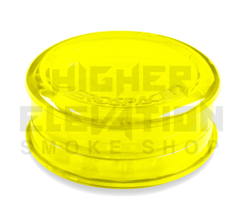 "2.5"" Aerospaced 3-Piece Acrylic Grinder - Transparent Yellow"