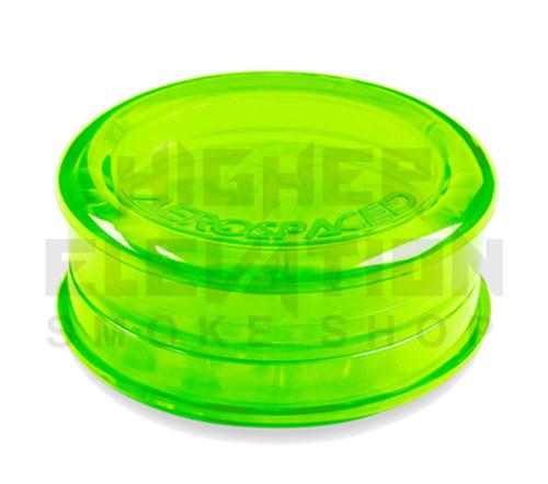 "2.5"" Aerospaced 3-Piece Acrylic Grinder - Transparent Green"