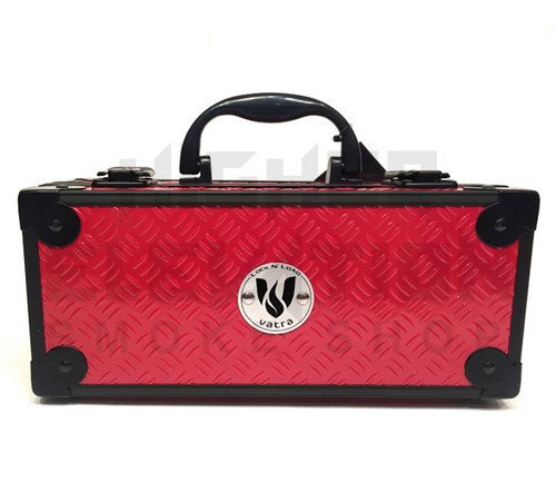 """Vatra Lock N Load 9"""" x 4"""" x 4"""" Red Aluminum Pipe Mod Vape Case (Out of Stock)"""