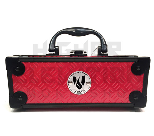 """Vatra Lock N Load 8"""" x 3"""" x 3"""" Red Aluminum Pipe Mod Vape Case  (Out of Stock)"""