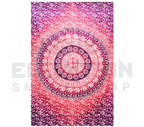 "ThreadHeads Fancy Pink Mandala Tapestry 55"" x 83"""