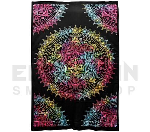 "Tribal Mandala Cotton Tapestry 55"" x 85"" Multicolor"