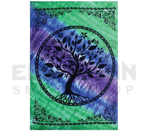 """ThreadHeads Tree of Life Multi Faith Tapestry - 55""""x85"""""""