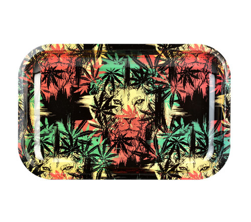 """Metal Rolling Tray Zion Lion 11"""" x 7"""""""