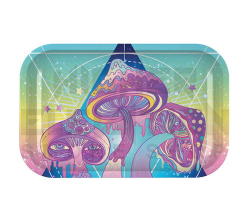 """Metal Rolling Tray Melting Shrooms 11"""" x 7"""""""