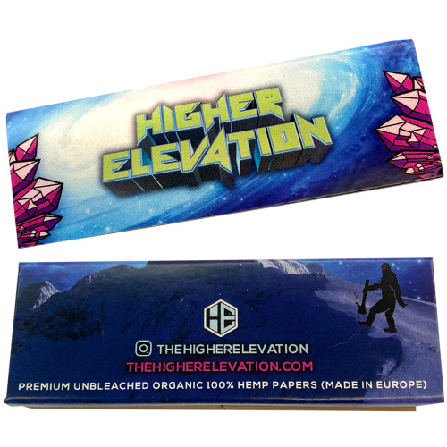 """Higher Elevation 1/4"""" Premium Unbleached Organic 100% Hemp Papers (50 Papers w/ Tips)"""