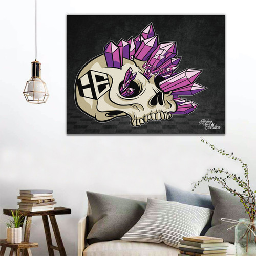 "Higher Elevation Wood Framed Canvas 30"" x 40"" - Crystal Skull"