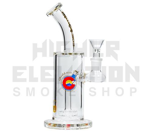 "GlassLab 303 8"" Clear Banger Hanger w/ Circle Percolator"