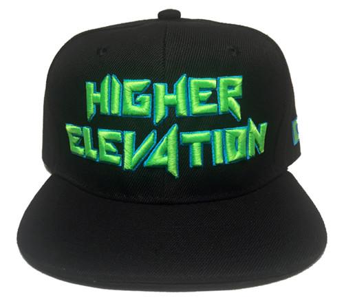4189013dc9b50 Higher Elevation - Black Neon Green Snapback