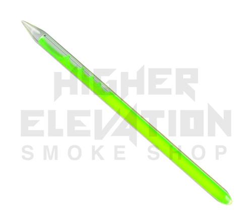 """Blacklight Liquid Filled Dabber 7.5"""" - Neon Green"""