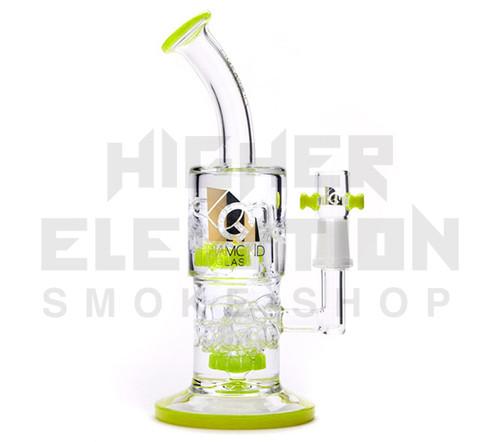 "Diamond Glass 7"" Double Circ Mini - Slyme Green (Out of Stock)"