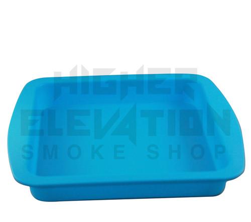 """Silicone Tray 9.5"""" x 9"""" x 1.25"""" - Blue"""