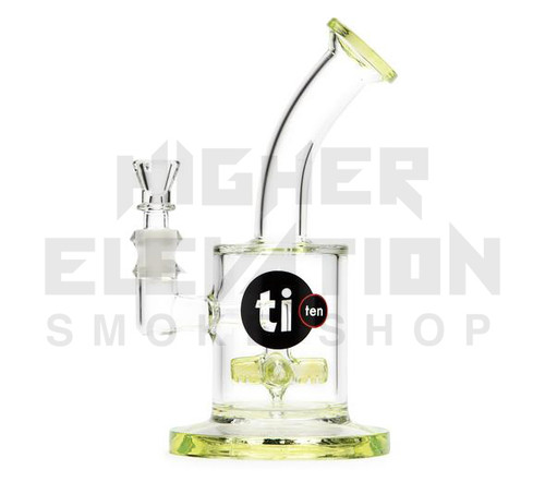 """Ti-Ten 6"""" Cross Gridline Bubbler  - Slyme (Out of Stock)"""