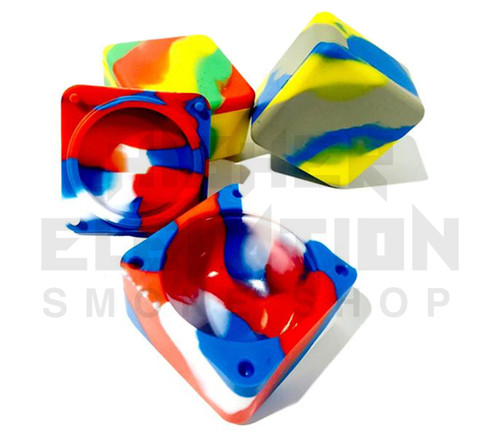 """2.5"""" Cube Silicone Container - Assorted Colors"""