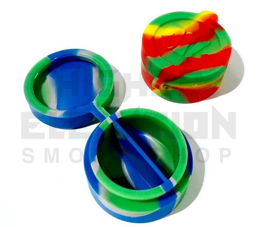 """1.75"""" Split Silicone Container - Assorted Colors"""