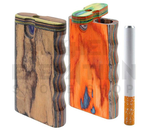 Handmade Wooden Hand Grip Dugout w/ One Hitter - Assorted Colors (Out of Stock)